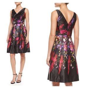 Ricki Freeman Teri Jon floral fit and flare dress